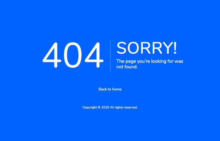 connect plus 404 page
