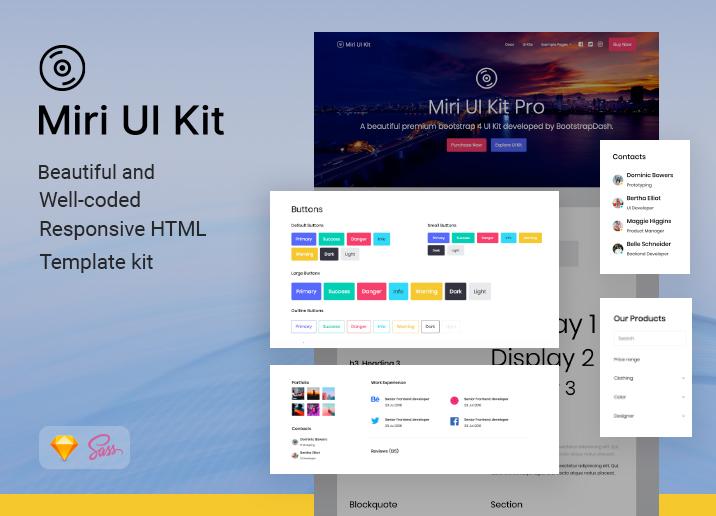 Miri UI Bootstrap UI kit