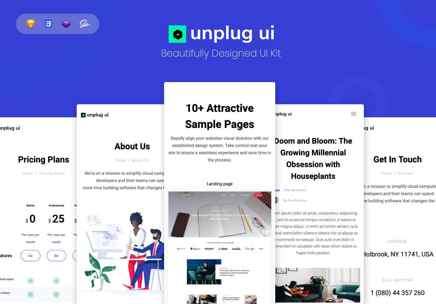 Unplug Bootstrap UI kit