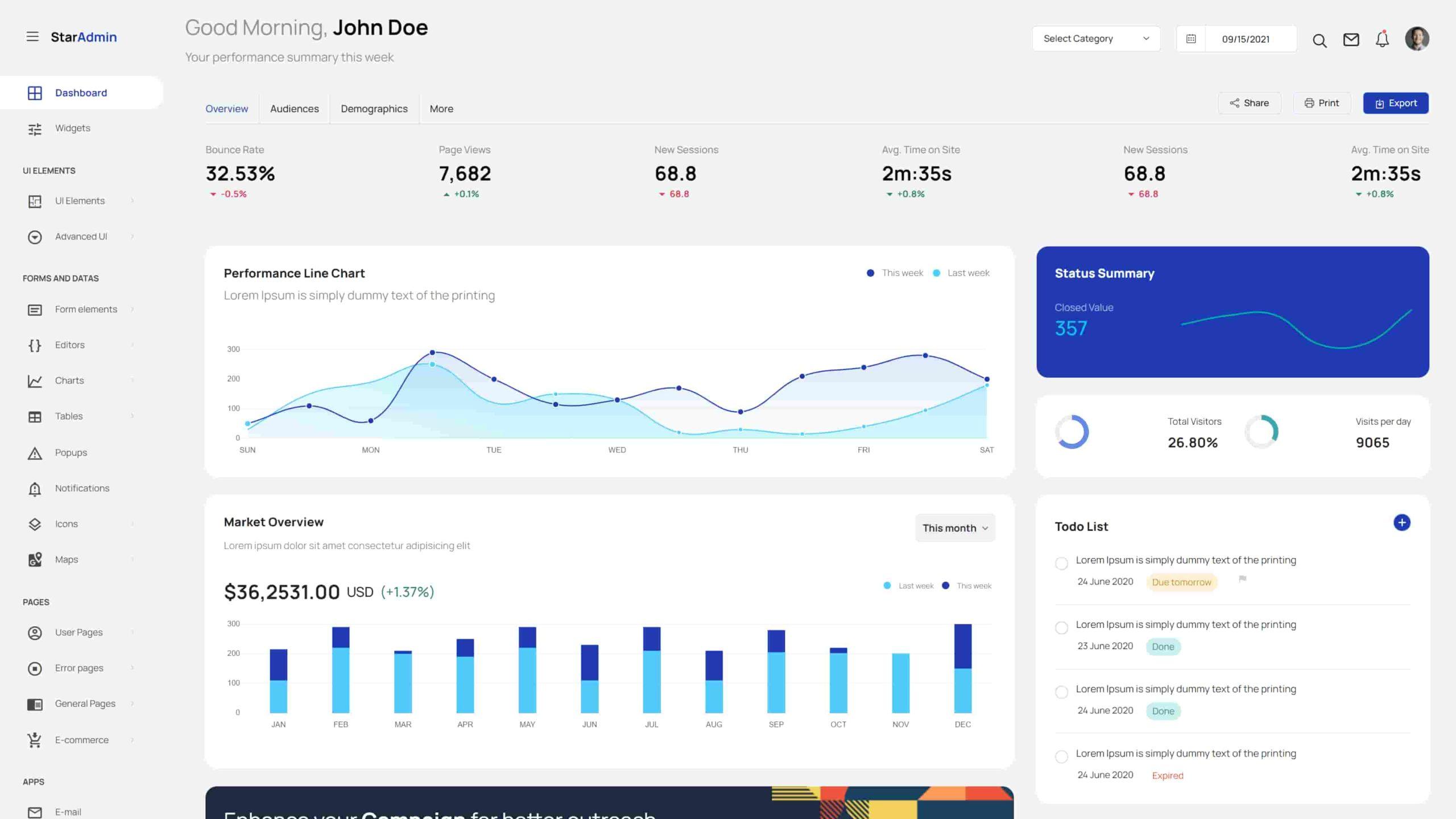 Star Admin 2 Bootstrap 5 admin dashboard template